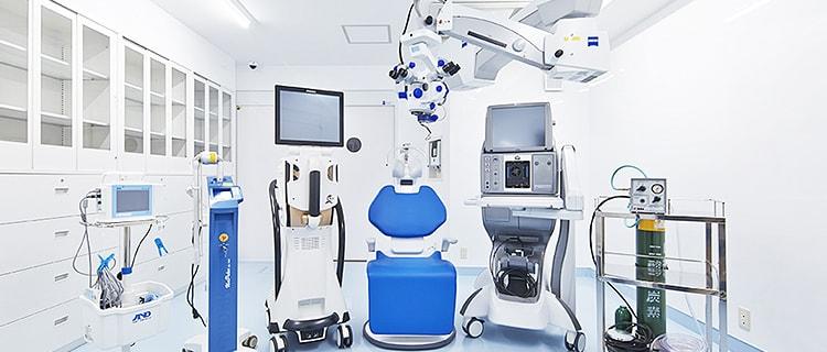 高度医療設備を整えた日帰り手術専門施設